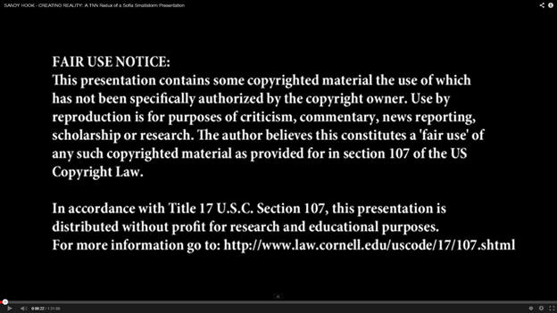 Copyrighted Footage
